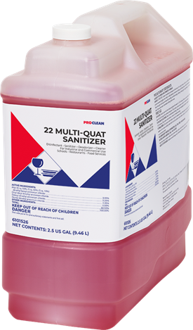 22 Multi Quat Sanitizer ProClean